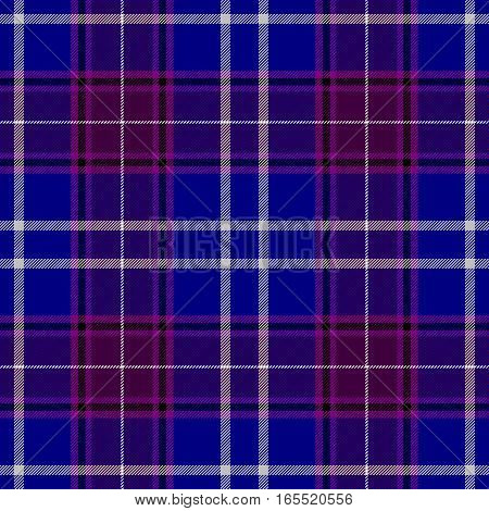 check diamond tartan plaid fabric seamless pattern texture background - blue purple and white color