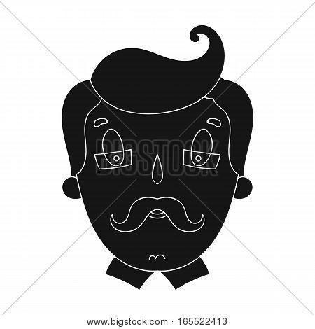 Father icon in black design isolated on white background. Family holiday symbol stock vector illustration.