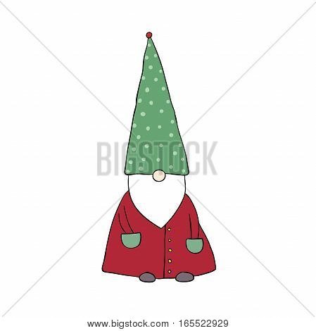 Funny elves. isolated objects on white background. Vector illustration.