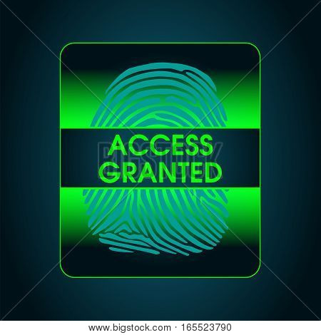 the result of the fingerprint scan access is granted, the access control system security data protection