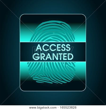 result of the fingerprint scan access is granted, the access control system security data protection access
