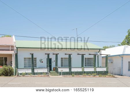 FAURESMITH SOUTH AFRICA - DECEMBER 31 2016: A typical old house in Fauresmith a small town in the Free State Province