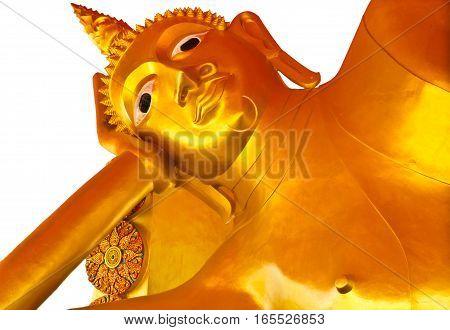 A biggest Buddha in Ayutthaya Thailand ,sleeping Buddha