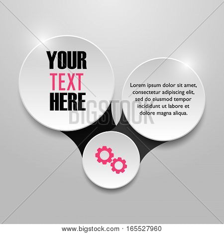 Vector infographic template. Infographic elements. Business concept
