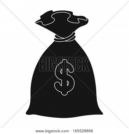 Money donation icon in black design isolated on white background. Charity and donation symbol stock vector illustration.
