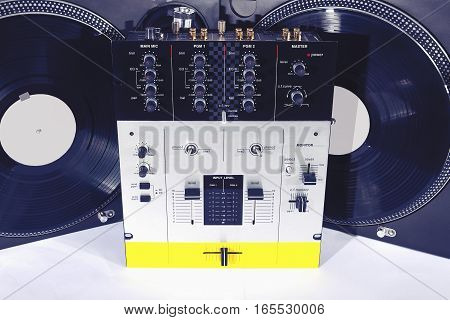 Turntables And Sound Mixer