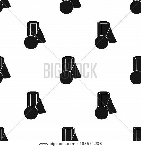 Bucket of paint and paintbrush icon in Black style isolated on white background. Artist and drawing pattern vector illustration.