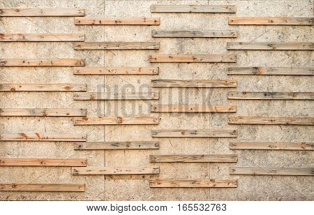 wooden cut on OSB plywood wood wall background texture