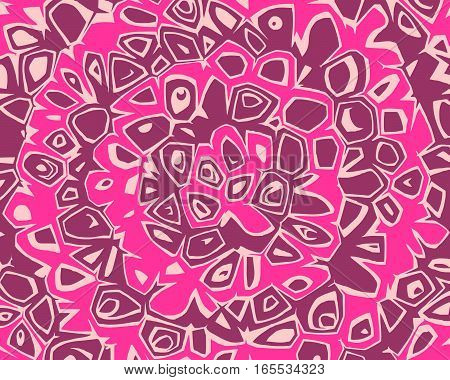 Abstract ornate wavy striped pattern. Vector illustration with impressionistic style