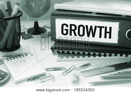 Growth business financial concept in office on desk