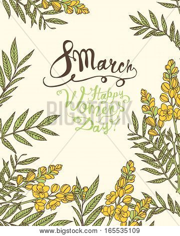 8 March. Happy Woman's Day! Senna Flowers