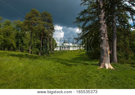 Palace Landscaped Park In The Estate Kachanovka Chernigov Region Ukraine