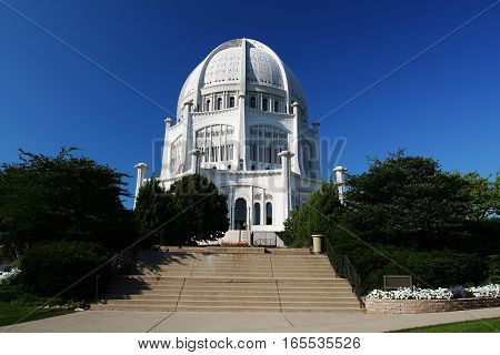 Bahai House of Worship in Chicago IL USA