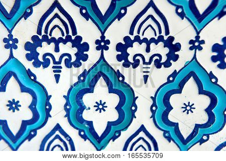 Background of orient blue and white pattern