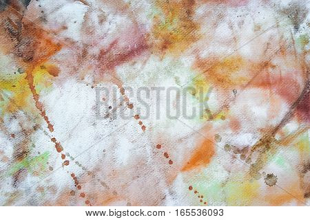background of warm watercolor colorful abstract painting