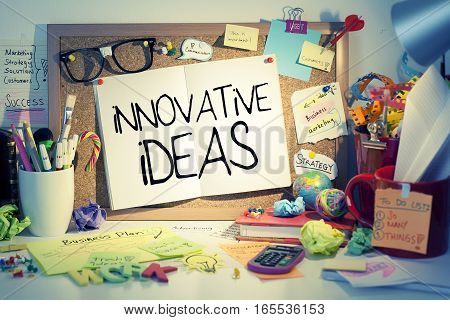 Innovative ideas business concept note in office