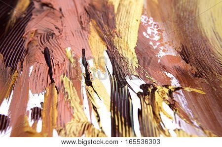 wallpaper background of warm colorful abstract painting