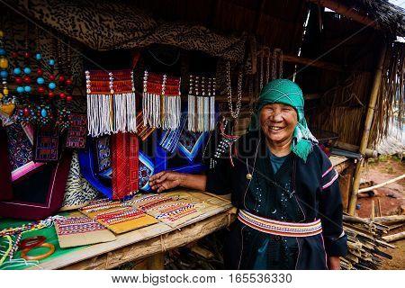 Akha Tribe Sell Souvenir, Chiang Rai