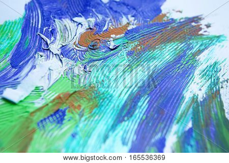 wallpaper background of cold colorful abstract painting