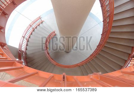 The spiral staircase closeup in Taiwan .