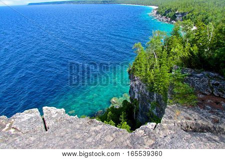 Georgian Bay from a Cliff Top on the Bruce Trail
