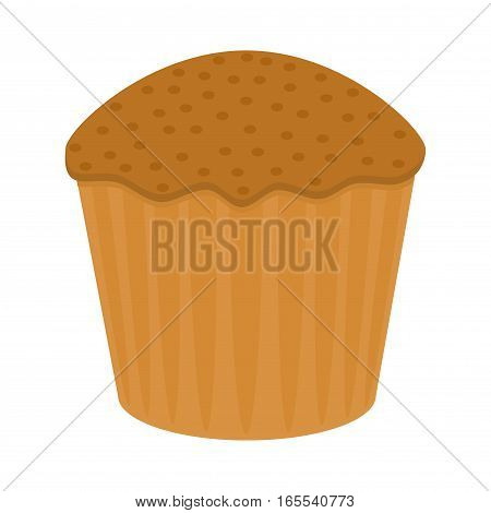 Delicious bakery flat icons of sweet cake on the white background. Restaurant dessert menu elements. Snack vector illustration