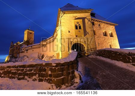 The Wartburg Castle near Eisenach in Thuringia