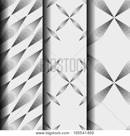 Set vector seamless pattern. Modern stylish texture. Simple regular background. Repeating geometric  pattern. Illustration with black and white circles. Seamless pattern eps