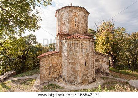 Old stone church of Nekresi Orthodox monastery in Alazani valley, Georgia. The monastery was erected in 4th - 7th century