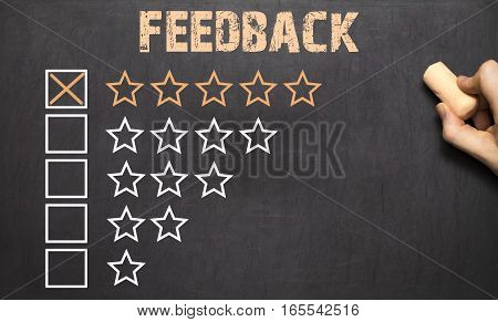 Best Feedback Five Golden Stars.chalkboard