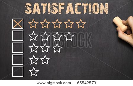 Best Choice Five Golden Stars.chalkboard