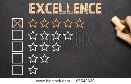 The Excellence Five Golden Stars.chalkboard