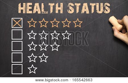Best Health Status Five Golden Stars.chalkboard