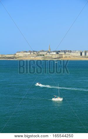 View on Saint-Malo from Dinard, Brittany, France