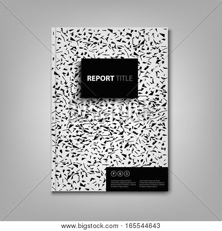 Brochures book or flyer with black spots on white cover vector eps 10