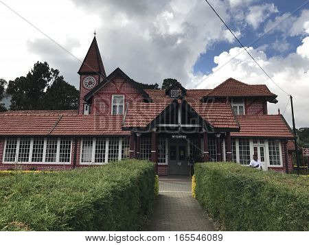 NUWARA ELIYA, SRI LANKA - DEC 21: Nuwara Eliya Post Office in Sri Lanka, as seen on Dec 21, 2016. It is is one of the oldest post offices in Sri Lanka.