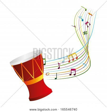 drum musical instrument icon vector illustration design