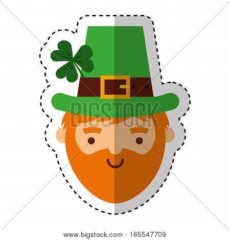 leprechaun irish character icon vector illustration design