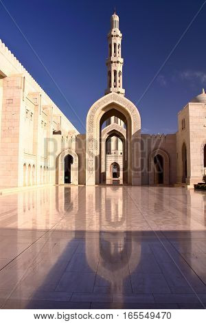 MUSCAT, OMAN: The main entrance of Sultan Qaboos Grand Mosque