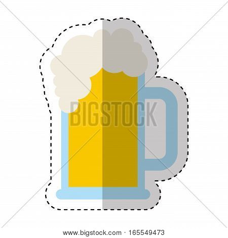beer jar drink isolated icon vector illustration design