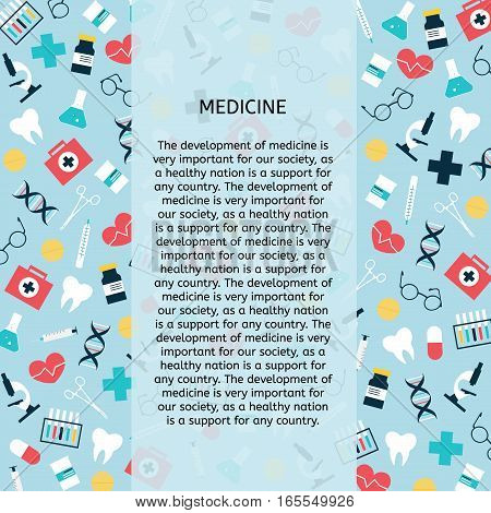 Health care and medical research background. Medicine and chemical engineering