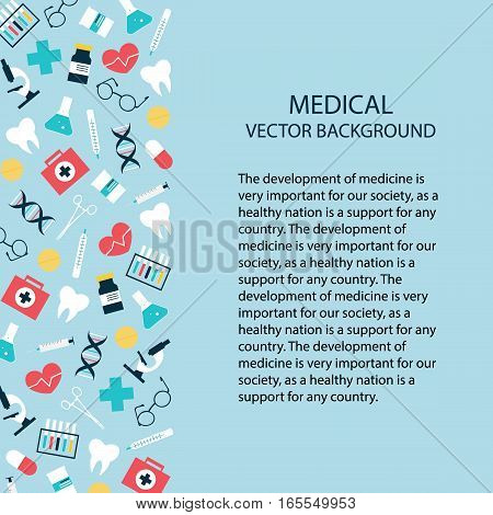 Health care and medical research background. Medicine and chemical engineering.
