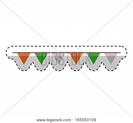 decorative garland isolated icon vector illustration design