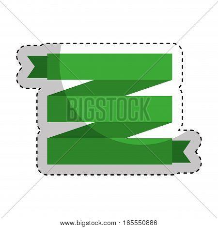 frame with ribbon decorative vector illustration design