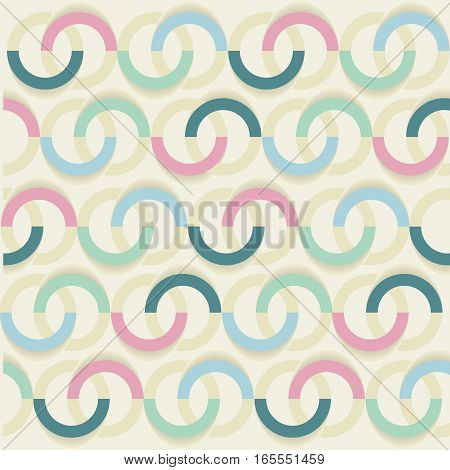 Decorative pattern with drawn circles vector background.