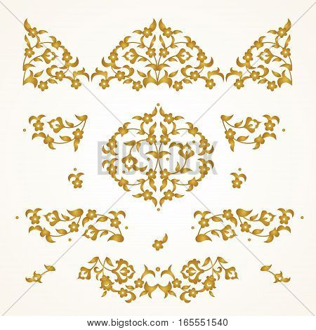 Vector Set Of Vignettes In Eastern Style.