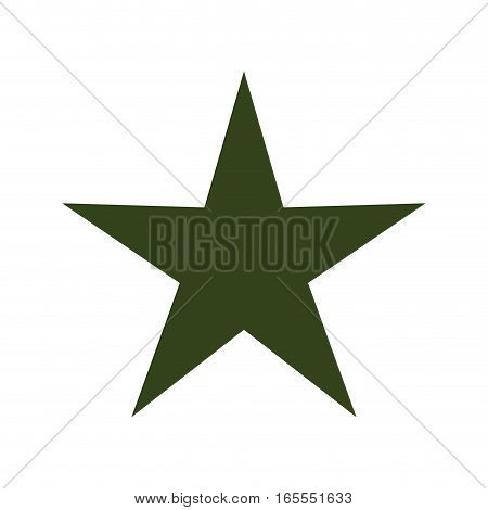 green star isolated icon vector illustration design