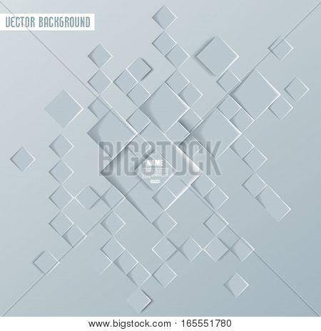 Vector Abstract geometric shape from gray deep rhombus.