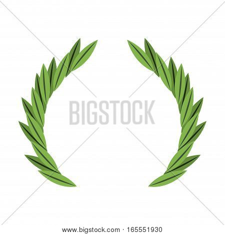 wreath crown frame icon vector illustration design