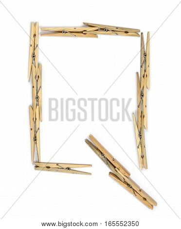 Clothespin Letter Q